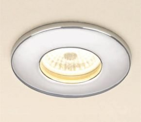 Chrome LED Fire Rated Showerlight - Warm White