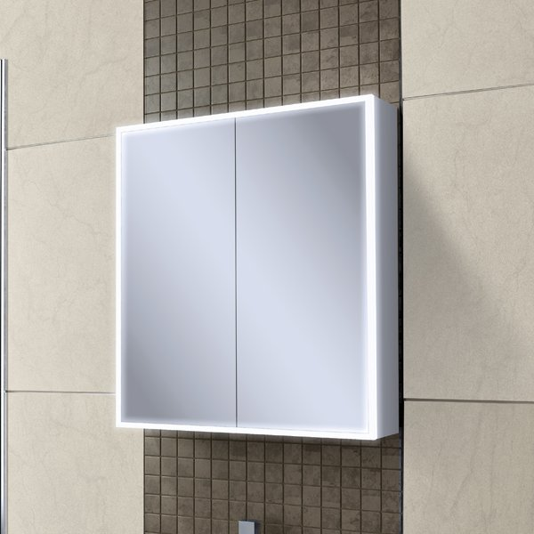 Qubic 60 cabinet hib for Mirror 80cm wide