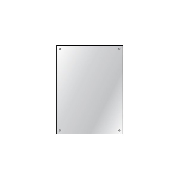 60 x 45cm Drilled Mirror