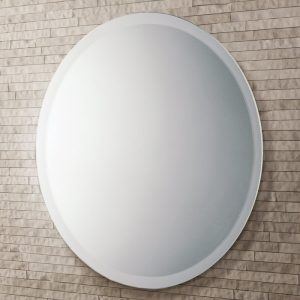 rondo bathroom mirror, can be hung landscape or portrait