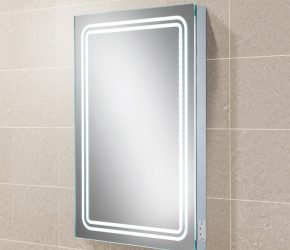 Rotary LED back-lit Illuminated mirror