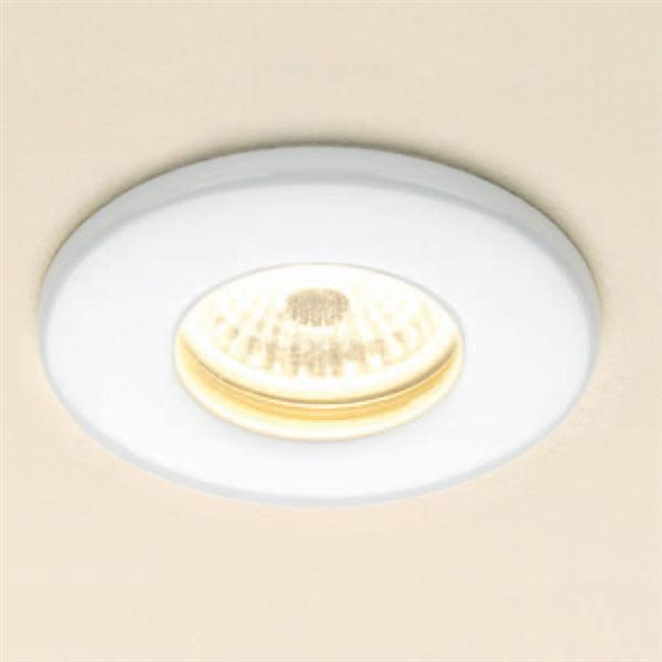 Warm White Fire Rated LED Showerlight, White