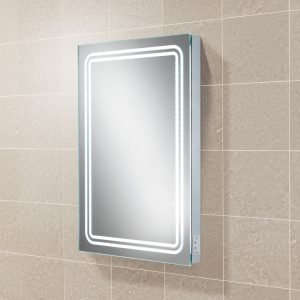 Rotary LED Bathroom Mirror With Two Pin Charging Socket