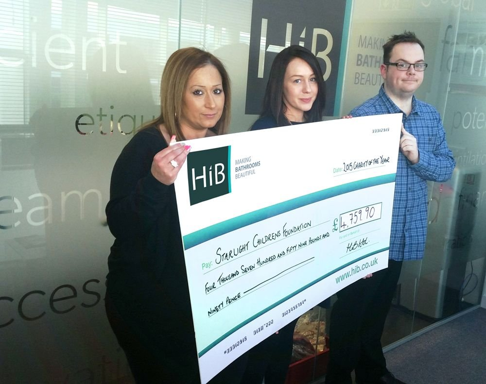 A Double Whammy – HiB Presents Cheques To Chosen Charities