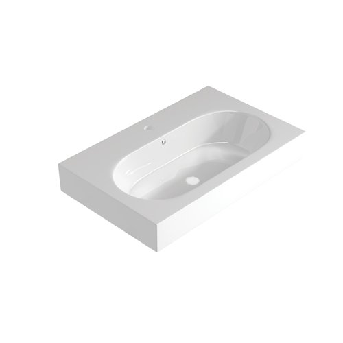 Tempt / Tranquil Mineral Marble Shaped 60cm