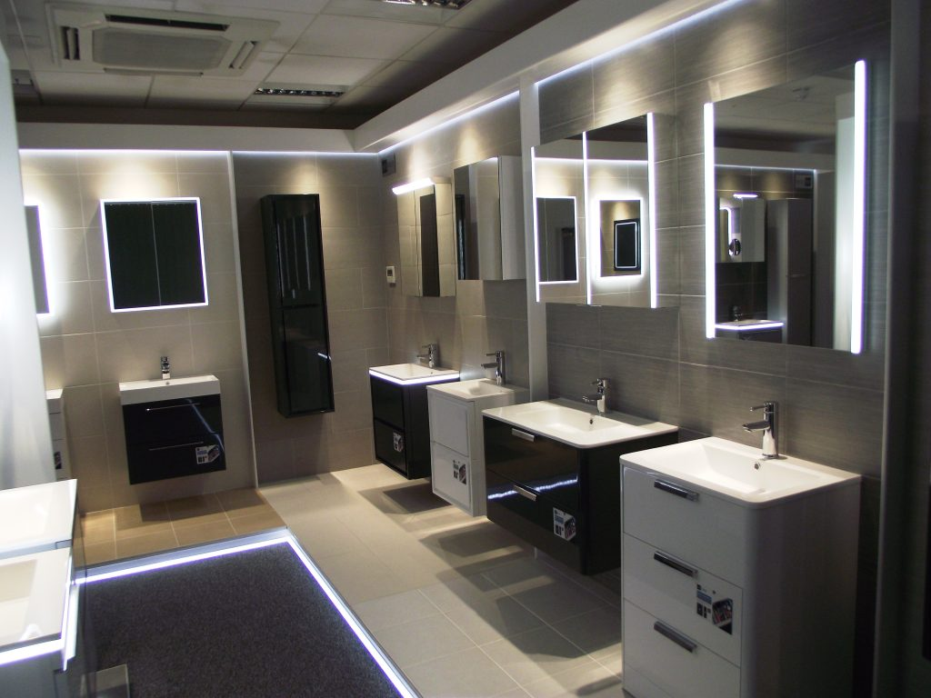 Hib showcase novum bathroom furniture in new trade showroom hib mozeypictures Gallery