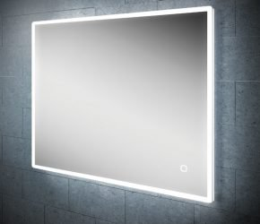 Vega 80 Bathroom Mirror on tile