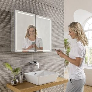 bluetooth speaker bathroom cabinet