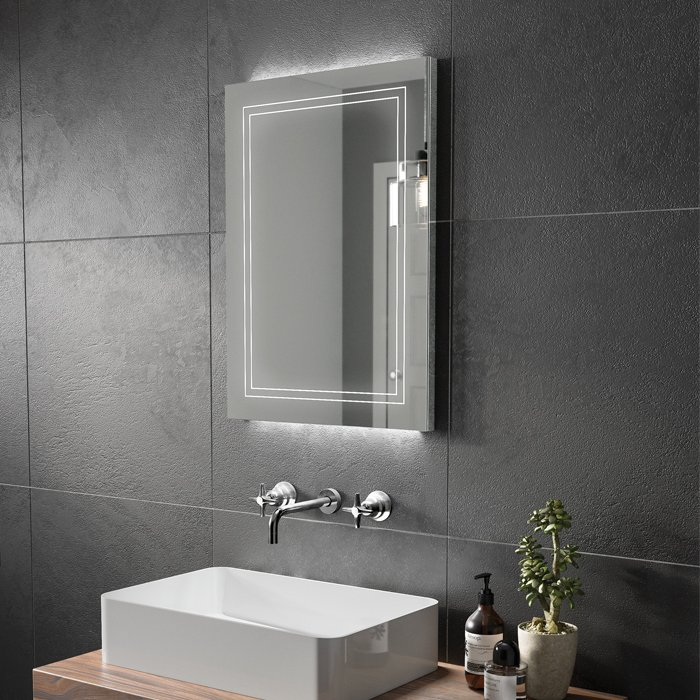 outline 50 LED illuminated mirror