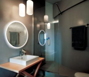 Bathroom mirrors hib sphere 80 mozeypictures Gallery
