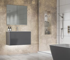 Essence 80 recessed bathroom cabinet