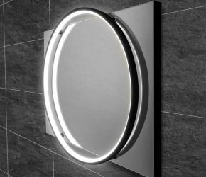 Solas 50 - Black LED Mirror