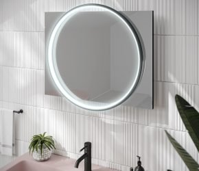 Solas 60 - Black LED Mirror