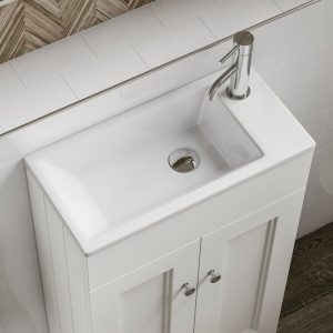 compact cloakroom basin