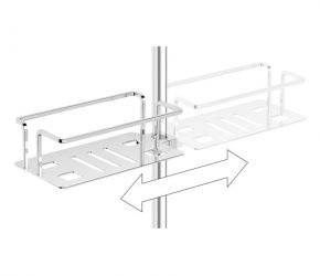 Image of Shower basket modern - Clip on riser rail
