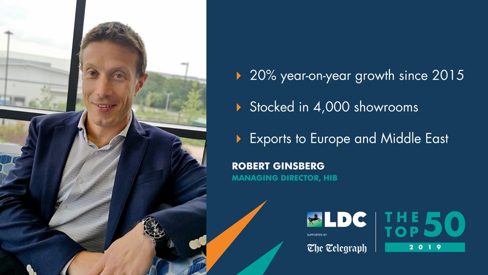Robert Ginsberg , Managing Director of  HiB, has been named as one of the coveted LDC (Lloyds Development Capital) Top 50 Most Ambitious Business Leaders for 2019.
