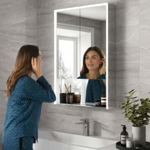 Verve 60 LED Bathroom Cabinet with Wireless Phone Charger