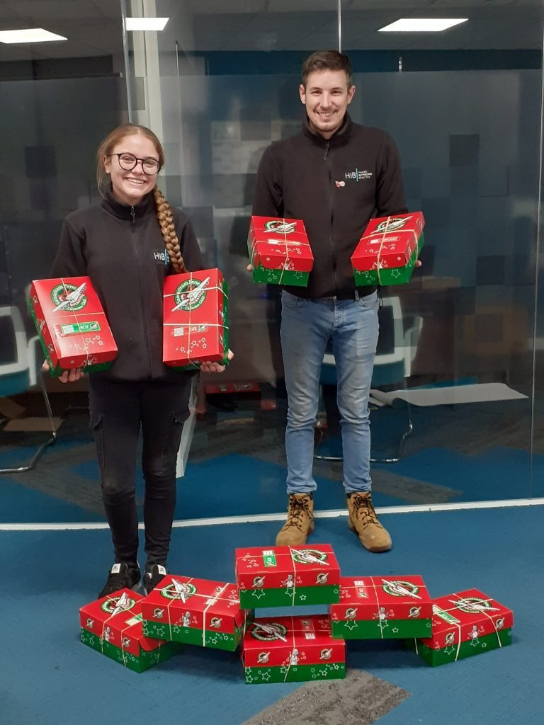 HiB charity shoebox collection shows the spirit of Christmas