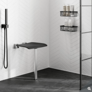 bathroom shower seat with leg support