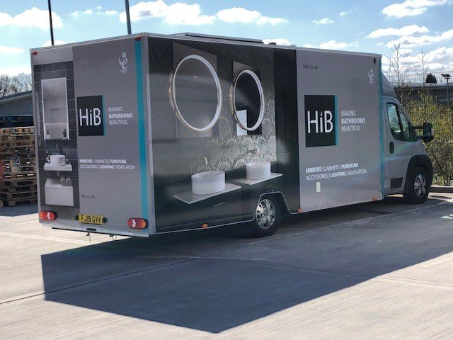 HiB exhibition vehicle transformed for showroom visits