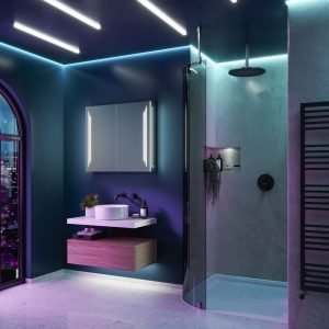 Dimension 80 LED Bluetooth Bathroom Speaker Cabinet