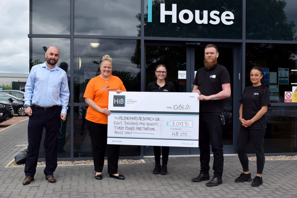 Vital funds presented to Alzheimer's Research UK